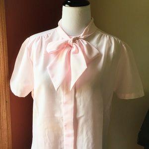 Vintage Anderson Little secretary bow blouse